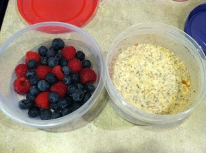 Oats and berries. YUM!